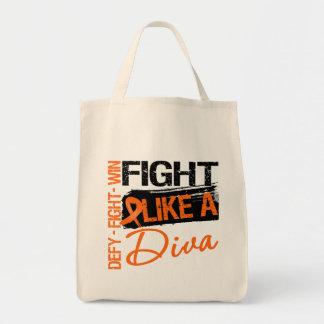 Leukemia  - Fight Like a Diva Canvas Bag