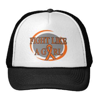 Leukemia Fight Like A Girl Circular Hats