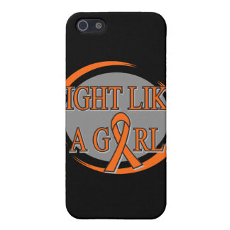 Leukemia Fight Like A Girl Circular Covers For iPhone 5