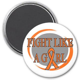 Leukemia Fight Like A Girl Circular Magnets