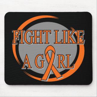 Leukemia Fight Like A Girl Circular Mouse Pad