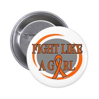 Leukemia Fight Like A Girl Circular Pin