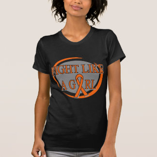 Leukemia Fight Like A Girl Circular T Shirt