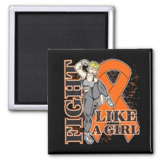 Leukemia Fight Like A Girl Kickin Butt Magnets