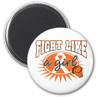 Leukemia Fight Like A Girl Sporty Callout Refrigerator Magnet
