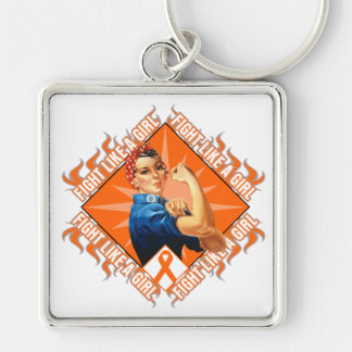 Leukemia Fight Rosie The Riveter Key Chains