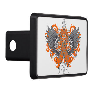 Leukemia Fighter Awareness Wings Hitch Covers