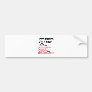 Leukemia Fighter Quiz Bumper Stickers