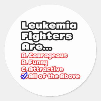 Leukemia Fighter Quiz Round Sticker