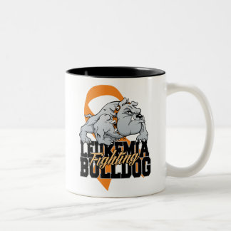 Leukemia Fighting Bulldog Two-Tone Coffee Mug