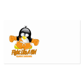 Leukemia Fighting Penguin Business Cards