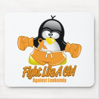 Leukemia Fighting Penguin Mouse Pad