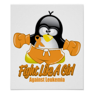 Leukemia Fighting Penguin Poster