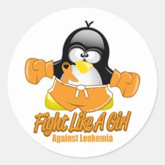 Leukemia Fighting Penguin Sticker