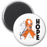 Leukemia Floral Hope Ribbon 2 Refrigerator Magnets