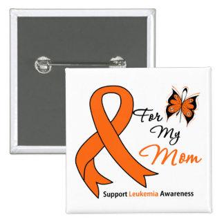 Leukemia - For My Mom Pinback Button