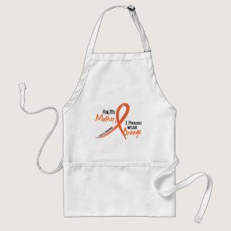 Leukemia For My Mother I Wear Orange 1 Adult Apron