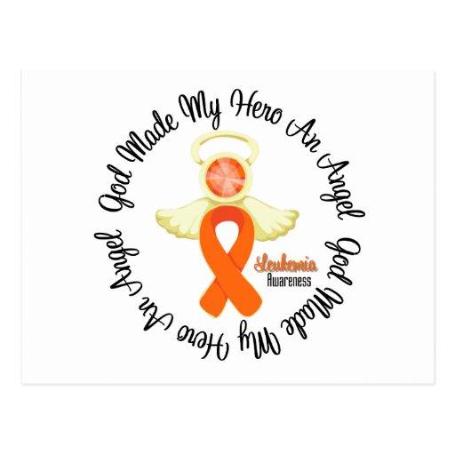 Leukemia God Made My Hero An Angel Post Cards