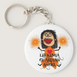 Leukemia Guardian Angel Keychain