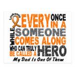 Leukemia HERO COMES ALONG 1 Dad Post Card
