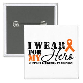 Leukemia Hero Ribbon Pinback Button
