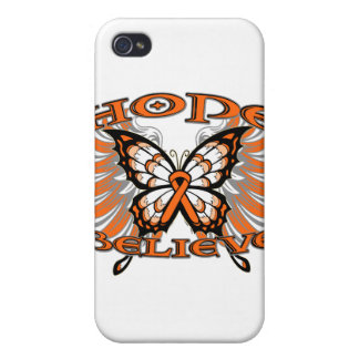 Leukemia Hope Believe Butterfly Covers For iPhone 4