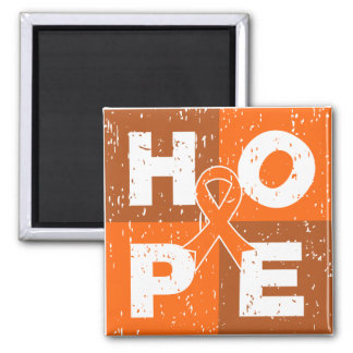 Leukemia HOPE Cube 2 Inch Square Magnet
