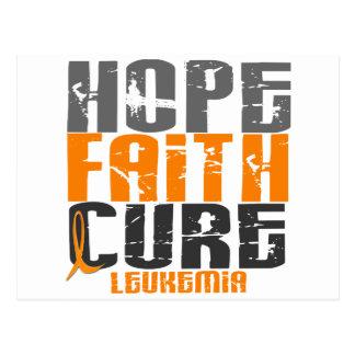 Leukemia HOPE FAITH CURE Postcard