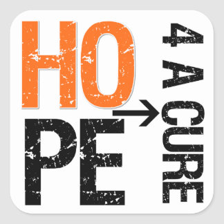 Leukemia Hope For a Cure Square Sticker