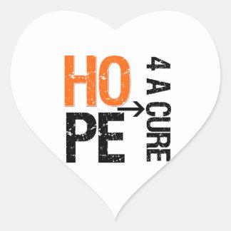 Leukemia Hope For a Cure Heart Sticker