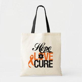 LEUKEMIA Hope Love Cure Gifts Canvas Bag