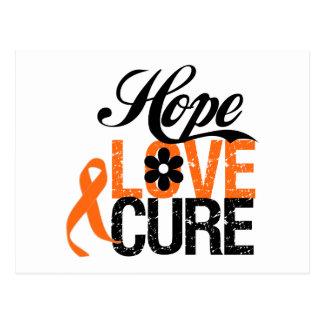 LEUKEMIA Hope Love Cure Gifts Postcard
