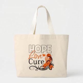 Leukemia Hope Love Cure Large Tote Bag