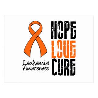 Leukemia Hope Love Cure Ribbon Postcard