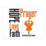 Leukemia Hope Love Faith Prayer Cross Postcards