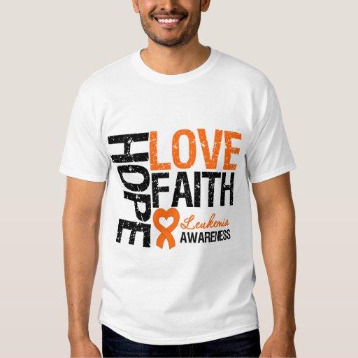 Leukemia Hope Love Faith Tshirt