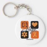Leukemia Hope Love Inspire Awareness Key Chain