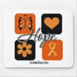 Leukemia Hope Love Inspire Awareness Mouse Pad