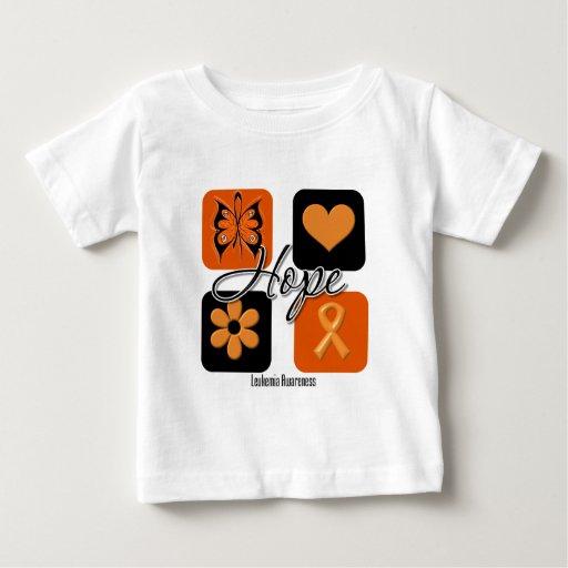 Leukemia Hope Love Inspire Awareness Tee Shirt