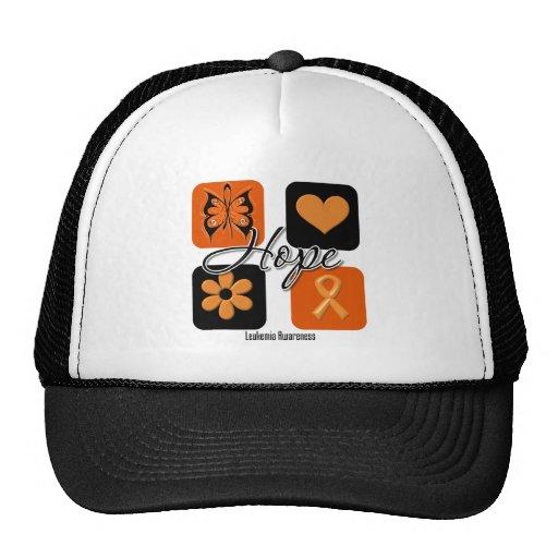 Leukemia Hope Love Inspire Awareness Trucker Hat