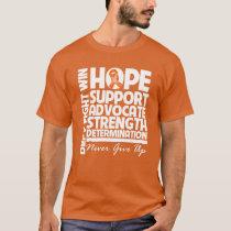 Leukemia Hope Support Strength T-Shirt