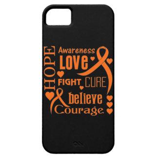 Leukemia Hope Words Collage iPhone 5 Cases