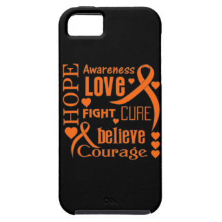 Leukemia Hope Words Collage iPhone 5 Covers