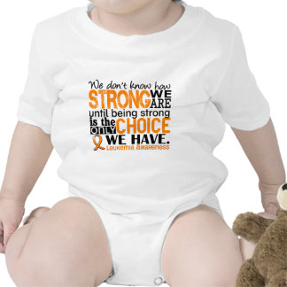 Leukemia How Strong We Are Baby Bodysuit
