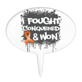 Leukemia I Fought Conquered Won Cake Toppers