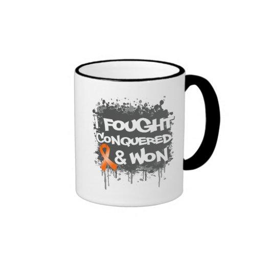 Leukemia I Fought Conquered Won Coffee Mugs