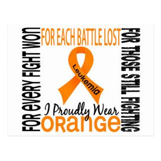 Leukemia I Proudly Wear Orange 2 Postcards