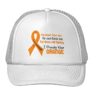 Leukemia I Proudly Wear Orange Trucker Hat