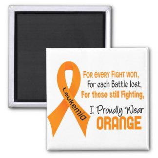 Leukemia I Proudly Wear Orange Magnet
