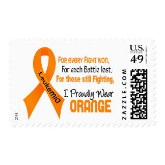 Leukemia I Proudly Wear Orange Postage